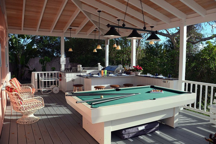 Enjoy a game of pool in the billiard porch