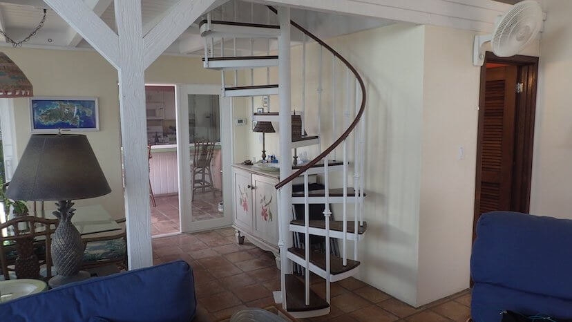 Coconuts new loft bedroom spiral staircase